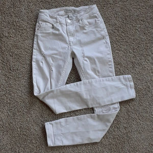White Refuge Distressed Skinny Jeans 0